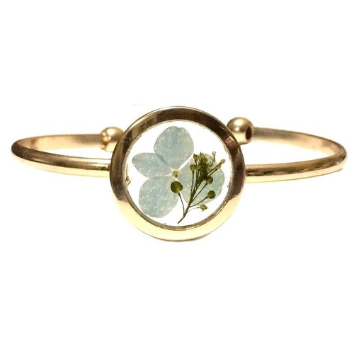 REVERIE JEWELLERY - Golden Frame Bangle (押花)