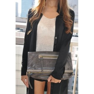 VALENTINA LEATHER BAG (ANTHRACITE GREY)