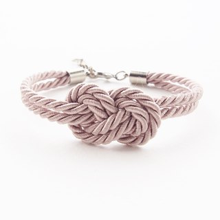 Light brown infinity rope bracelet