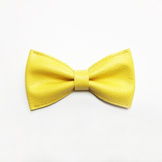 爱马仕黄色山羊皮煲呔 Hermes Yellow Goats Leather Bowtie