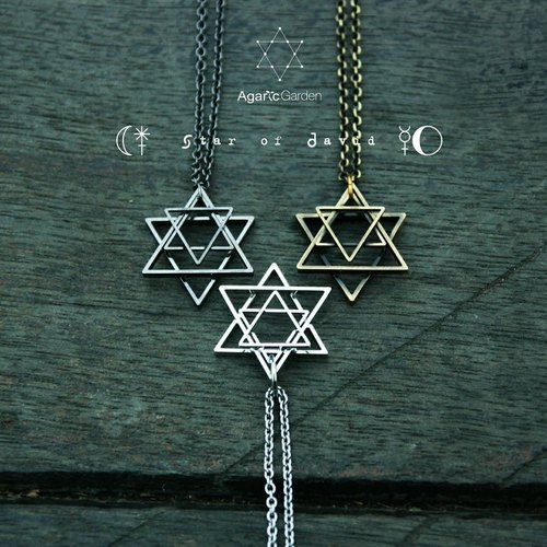 ✡六芒星项链 Star of David Necklace ✡