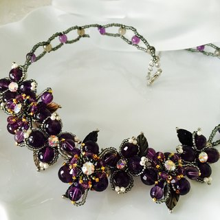 Amethyst necklace ☆ ☆ purple