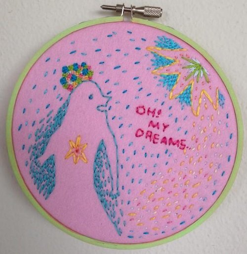 Embroidery illustration:OH!MY DREAMS