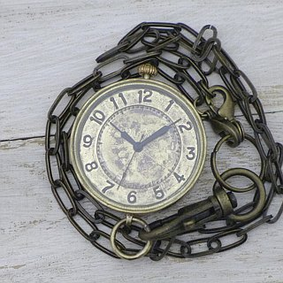 "Handmade watch HandCraftWatch ""S-WATCH-MEGA Flashlight"" pocket watch [JUM121]"