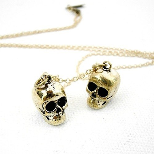 Zodiac pendant Twins skull is for Gemini