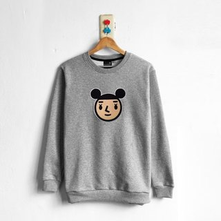 【BestFriend】Jumbo GirlFriend Long Sleeve Sweat / 长袖大学T (灰)