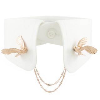 Cockatoo Collar Clip - pink gold