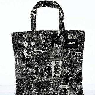 【URFACE】2nd Artist Series / P7 设计限量款Shopping Bag / 黑线条