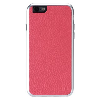 Just Mobile AluFrame Leather iPhone 6/6s精致铝框真皮手机壳-桃红色 AF-168PK