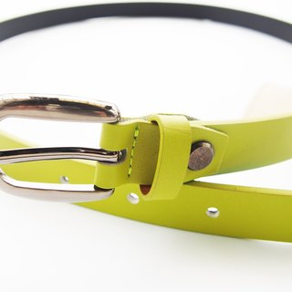 Lime green genuine leather woman belt with smoked black buckle, cut to size, lime green leather belt, green belt, leather belt.