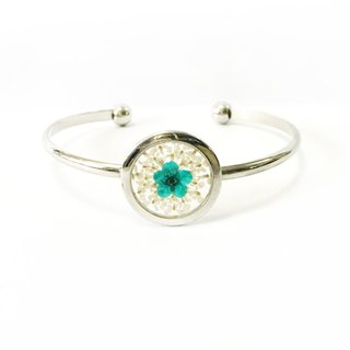 REVERIE JEWELLERY - Silver Frame Bangle (透明押花手镯)