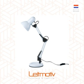 Leitmotiv desk lamp HOBBY steel White 白色HOBBY可调较枱灯