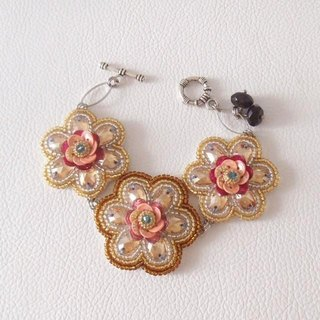 【bead embroidery】 awarovski bracelet no.1