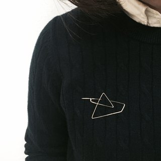 。几何胸针。Geometric Brooch。14Kgold