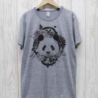 ronronPANDA Tee Flower Frame (Heather Gray) / RPT006-GR