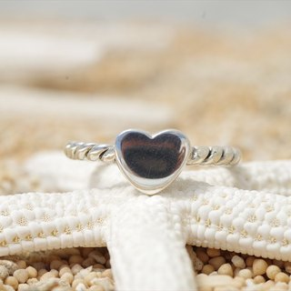 Silver Ring of Heart