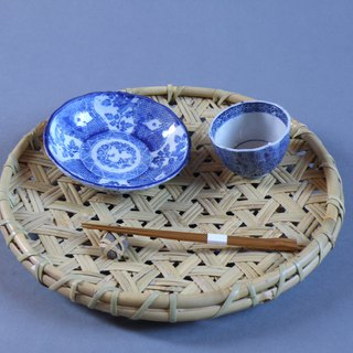 Iron crochet making basket bowls raised plate root bamboo product display