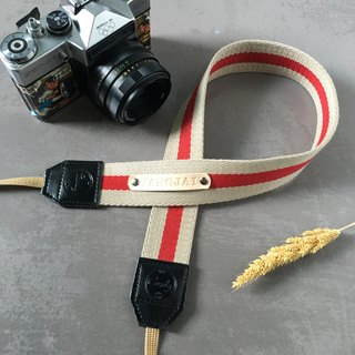 Beige Red  Mirrorless or DSLR Camera Strap