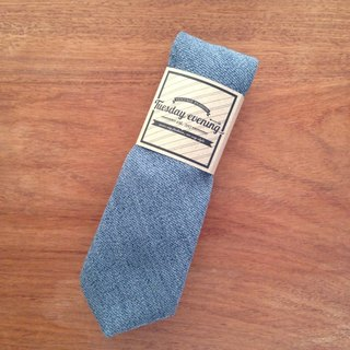 Neck Tie Blue Jean Wool