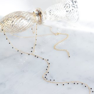【Monica】 14KGF, Swarovski Y-Necklace