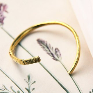 Brush Bangle / Linen Jewelry / Brass Bangle / Brass Bracelet / Brass Handcuff / Design Bangle