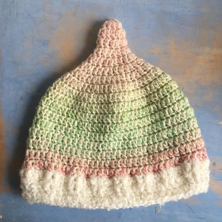Unicorns over the clouds pink LL Tankari hat knit cap
