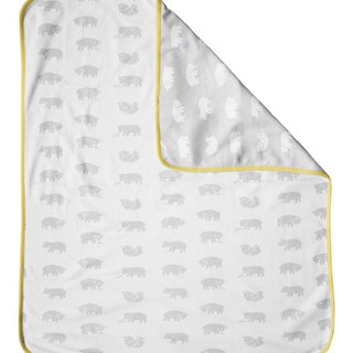 小熊熊有机棉毯(黄边)– BJÖRN ECO CHILD BLANKET(yellow edge)