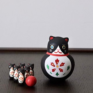 Black and White Cat Bowling