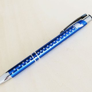 ☆ engraved choose ☆ cat and paw footprints ballpoint pen (blue) / knock formula