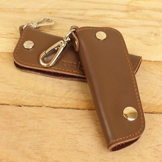 Car Key Case - Brown (Genuine Cow Leather) / Key Case / Key holder