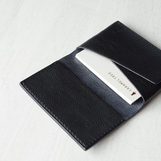 [Make-to-order production] Italian leather Business Card Case dark navy