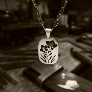 [Kikyo] pendant necklace / Japanese pattern overlay silver magazine posted items