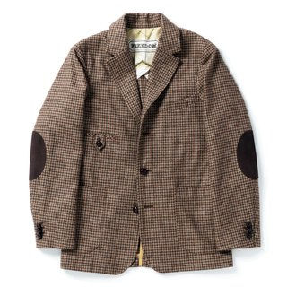 """GAIA"" SPORT JACKET - HOUNDSTOOTH TWEED"