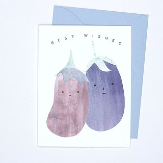 Best Wishes - Aubergines - Card