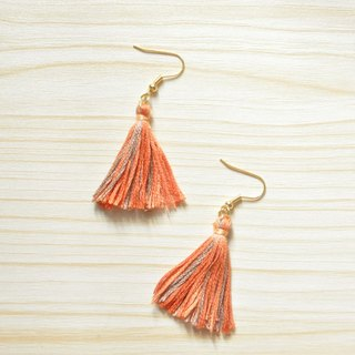 armei 秋色。秋枫 流苏耳环 Autumn Maple Tassel Earrings Koyo Style