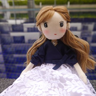Handmade Doll- Elegant Gril in White Lace Skirt