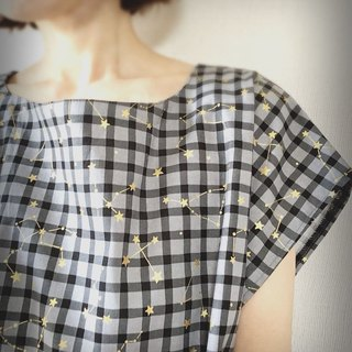Constellation gingham check Summer dress