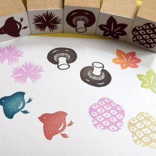 Japanese style stamp set