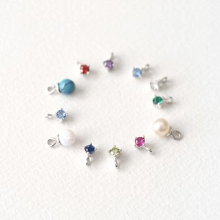 Birthstone necklace Silver 925 to choose