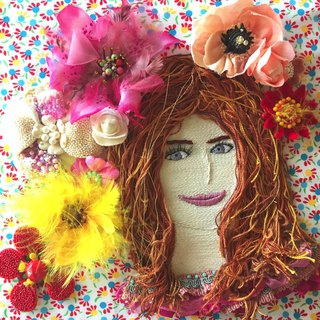 Le sourire du printemps   embroidery beads flower cloth handmade