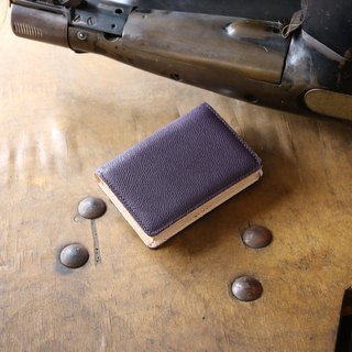 Japanese Manufactured Cowhide Name One Piece Name Cup purple Weinheimer made in JAPAN handmade leather card case