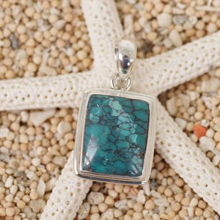 Turquoise silver pendant top