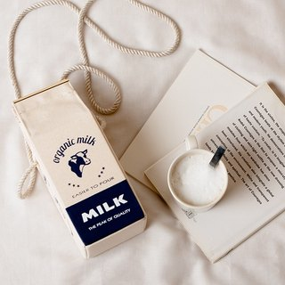 有机牛奶盒肩背包 Organic milk pochette  --  FRENCH NAVY