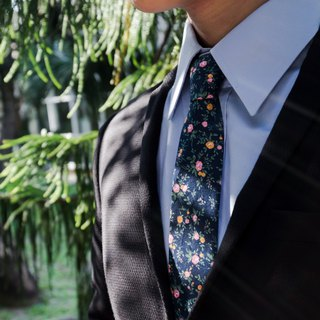 CAVEMAN Necktie - Japan Navy Forest