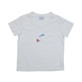 Our shop original paper airplane T-shirt ladies free size Tcollector