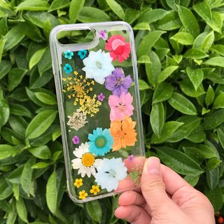iPhone 7 PLUS 手机壳 Dry Pressed Flowers Case 押花 干燥花 彩色压花 033