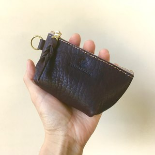 JAPAN Leather Nume leather mini pouch barco Bitter Brown