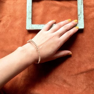 ARRO / leather and  metal / Bangle / NATURAL & GOLD