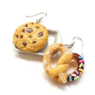 cookie + Chocolate bread earring