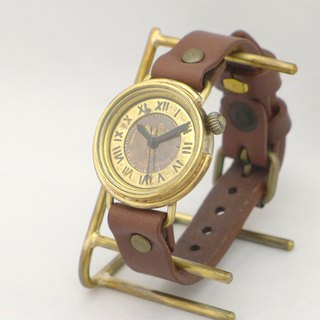 "Handmade watch ""MILTIMER 5-B"" Men's Brass (357 Roman numeral BR)"